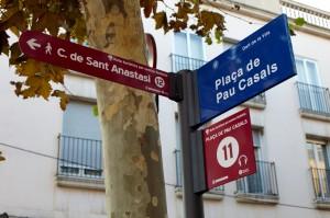 Ruta turística - Plaça de Pau Casals