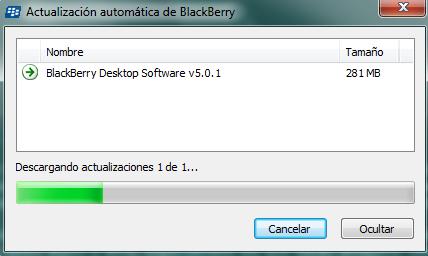 Actualització client de blackberry