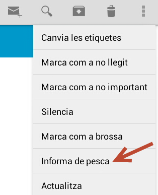 opcions gmail android